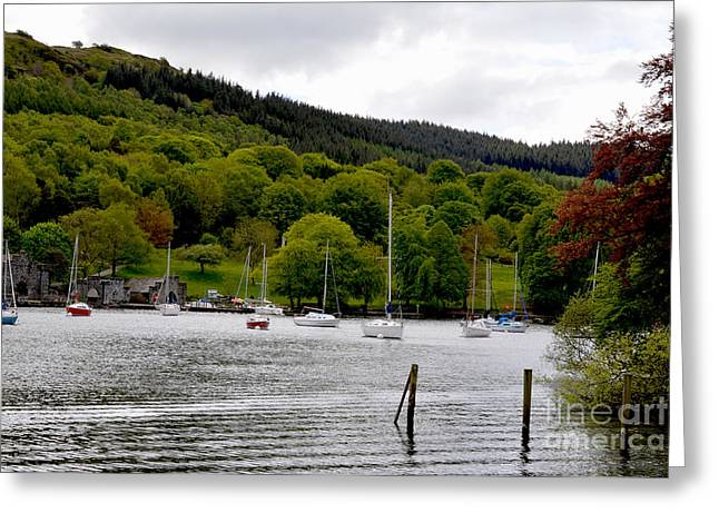Prints Photographs Greeting Cards - Windermere Lake Distrcit Greeting Card by Steven Brennan