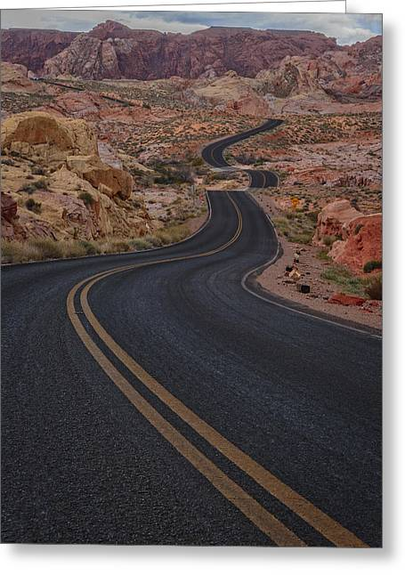 Valley Of Fire Nevada Greeting Cards - Winding Road Greeting Card by Rick Berk