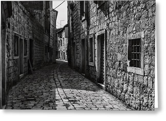 Township Greeting Cards - Winding Walkways Greeting Card by Andrew Paranavitana