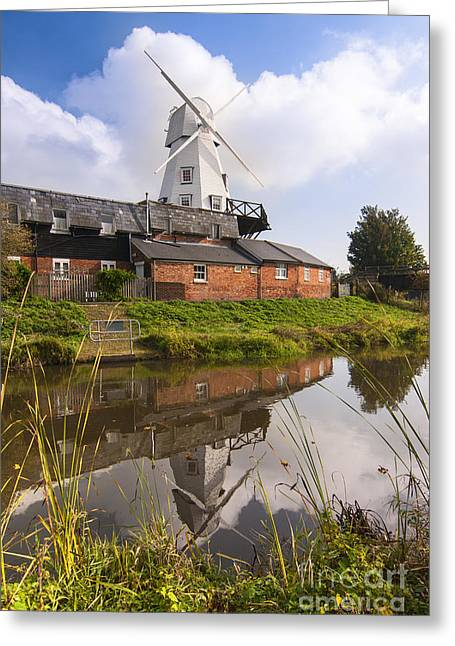 White Smock Greeting Cards - Windmill at Rye Greeting Card by John Boud