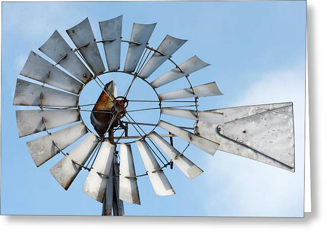 Windmill Blades Greeting Card by Todd Klassy