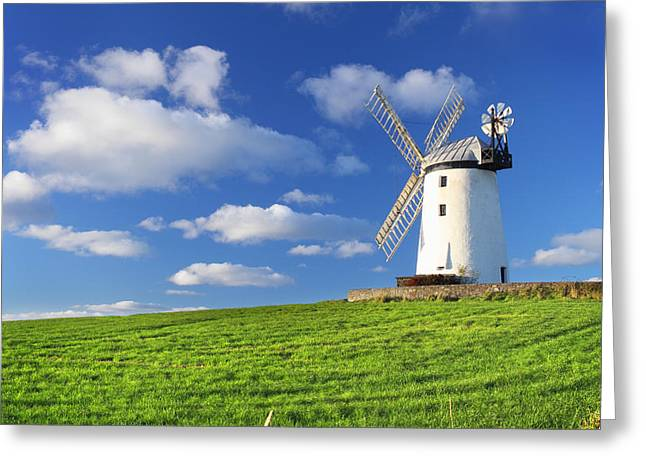Windmill Greeting Card by Drew McAvoy