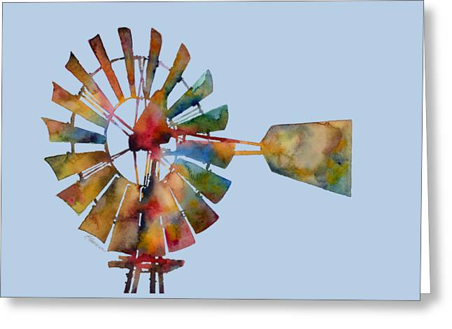 T Shirts Greeting Cards - Windmill Greeting Card by Hailey E Herrera
