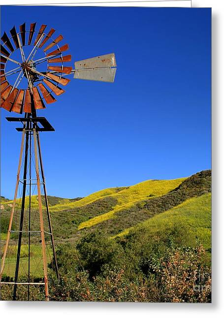 Rotation Greeting Cards - Windmill Greeting Card by Henrik Lehnerer
