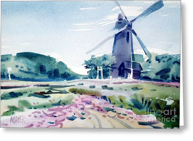 Golden Gate Park Greeting Cards - Windmill in Golden Gate Park Greeting Card by Donald Maier