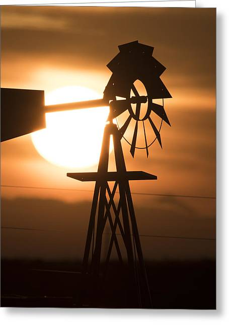 Colorado Greeting Cards - Windmill Greeting Card by Noah Bryant