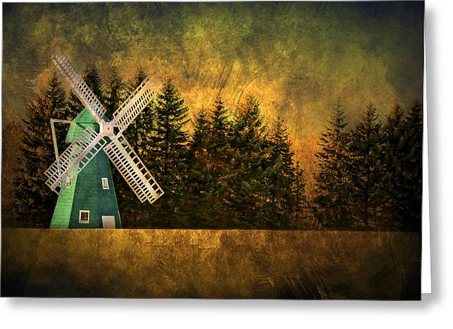 Brimfield Greeting Cards - Windmill on My Mind Greeting Card by Evelina Kremsdorf