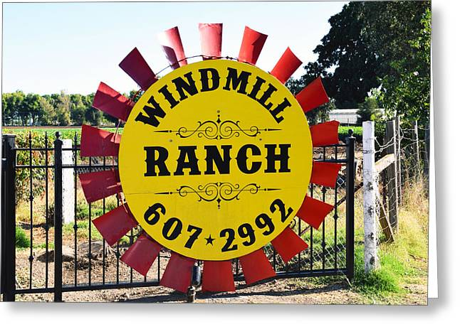 Windmill Ranch Greeting Card by Barbara Snyder