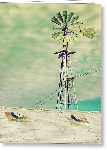 Windmill Stain Greeting Card by Todd Klassy