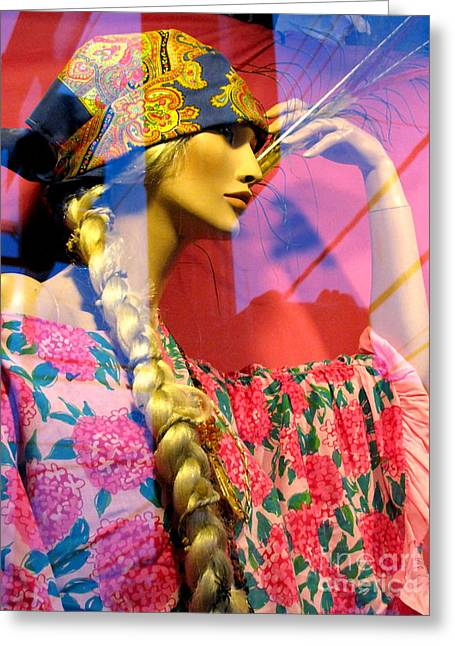 Store Fronts Greeting Cards - Window Dressing Greeting Card by Colleen Kammerer