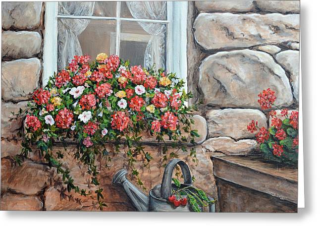 Ledge Greeting Cards - Window Garden Greeting Card by Sherry Yaeger