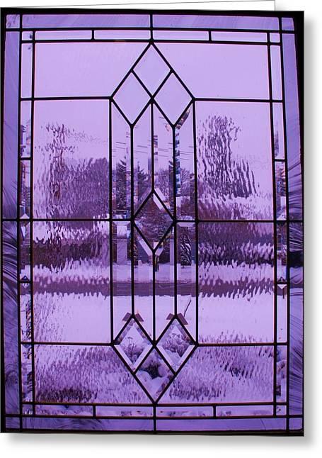 Anna Villarreal Garbis Greeting Cards - Window I Greeting Card by Anna Villarreal Garbis
