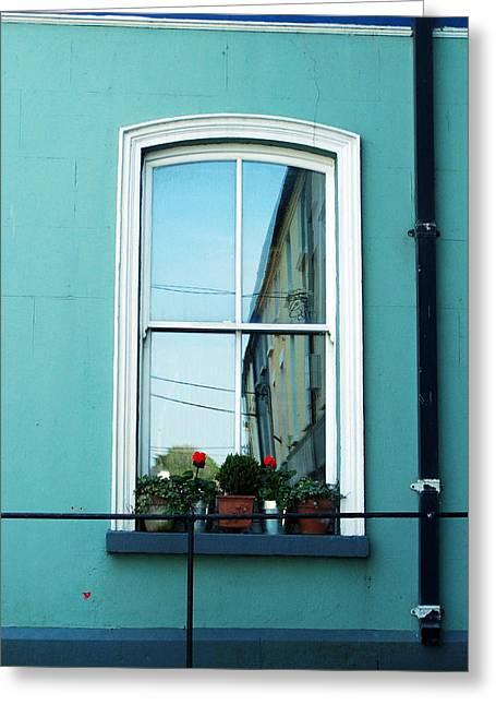 Ennistymon Greeting Card featuring the photograph Window In Ennistymon Ireland by Teresa Mucha