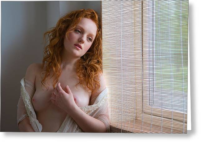 Nude Photographs Greeting Cards - Window Light Greeting Card by Danny Springgay