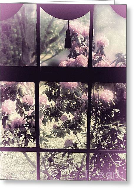 Window Greeting Card by Mindy Sommers