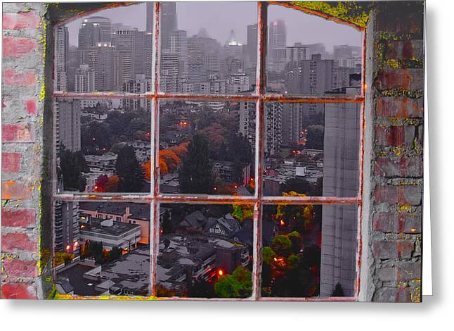 Vancouver Greeting Cards - Window of Vancouver Greeting Card by Dale Stillman