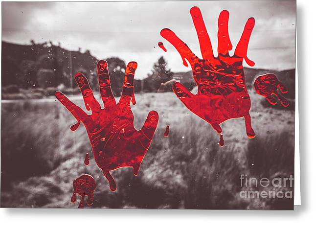 Window Pain Greeting Card by Jorgo Photography - Wall Art Gallery