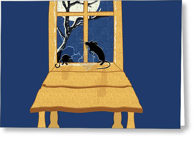 Window Seat Greeting Card by Laura Brightwood