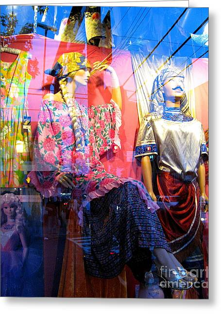 Store Fronts Greeting Cards - Window Shopping Greeting Card by Colleen Kammerer