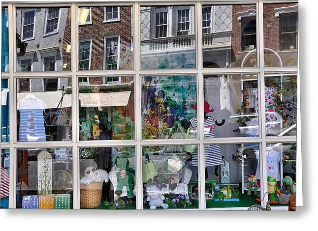 Store Fronts Greeting Cards - Window Shopping Greeting Card by Todd Hostetter