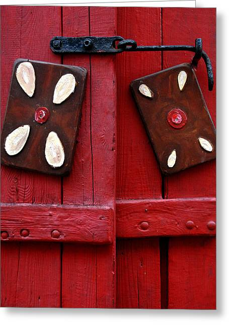 Wooden Shutter Greeting Cards - Window Shutters Greeting Card by Robert Lacy