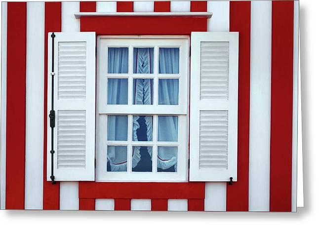 Window Stripes Greeting Card by Carlos Caetano