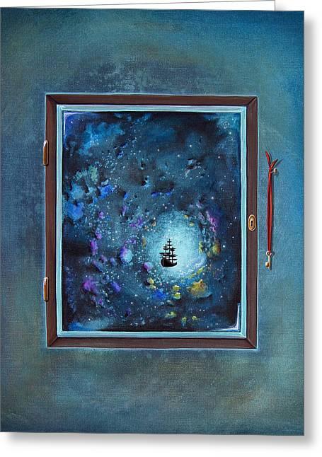 Window To Genesis Greeting Card by Cindy Thornton