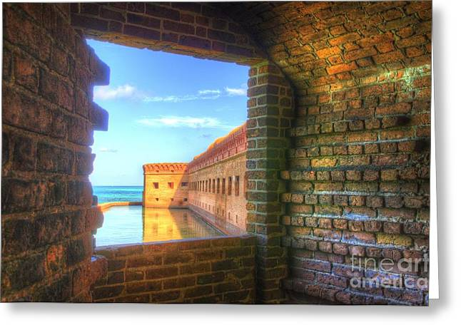 Window To The Fort Greeting Card by Jason Barr