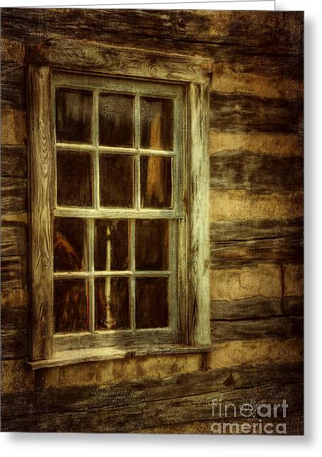 Window To The Past Greeting Card by Lois Bryan