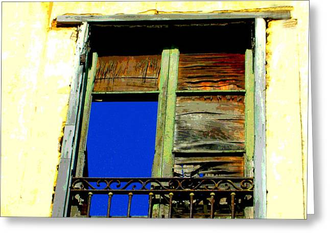 Window to the Sky by Michael Fitzpatrick Greeting Card by Olden Mexico