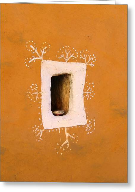 Geometrical Photographs Greeting Cards - Window to the soul Greeting Card by A Rey