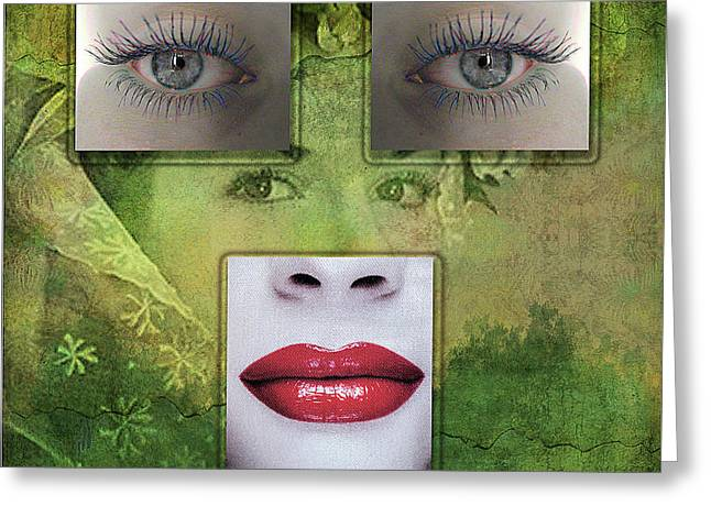 Window To The Soul Greeting Card by Gillian Singleton