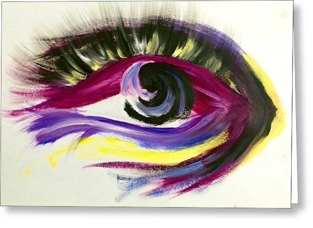 Eyelash Greeting Cards - Window to the Soul Greeting Card by Morgan Gunther