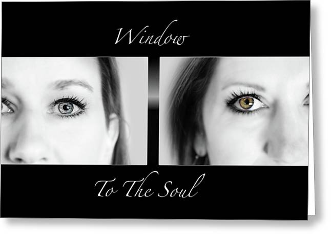 Window To The Soul Greeting Card by Steven  Michael