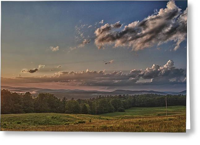 Nathan Larson Greeting Cards - Window to Vermont in Color Greeting Card by Nathan Larson