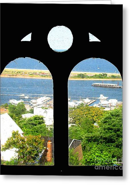 Window View Greeting Card by Colleen Kammerer
