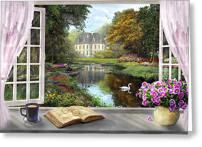 Nostalgia Digital Greeting Cards - Window With a View Greeting Card by Dominic Davison