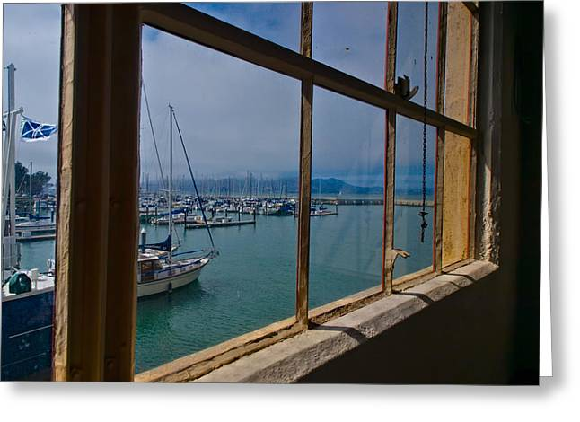 Francis Greeting Cards - Window with a View Greeting Card by Laura Ragland