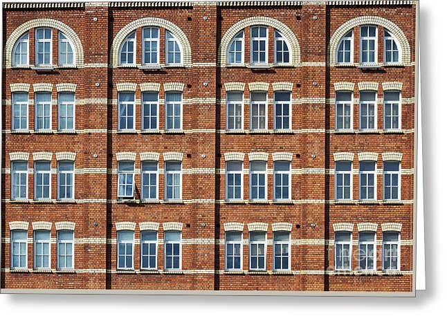 Windows And Bricks Greeting Card by Tim Gainey