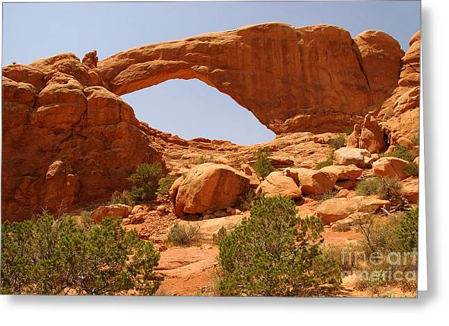 Windows At Arches National Park Greeting Card by Micah May
