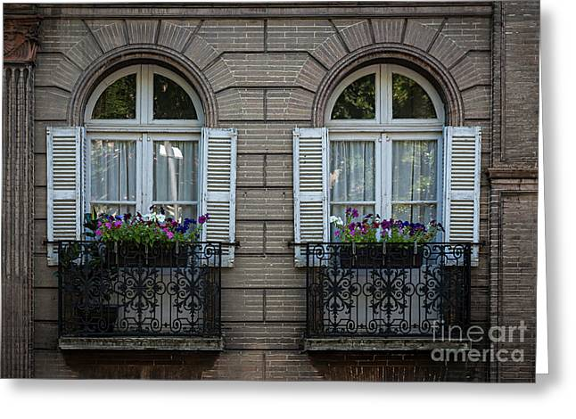 Windows In Toulouse Greeting Card by Elena Elisseeva