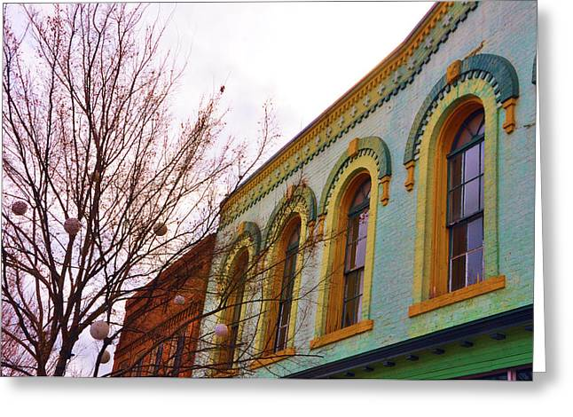 Store Fronts Greeting Cards - Windows Of Color Greeting Card by Jan Amiss Photography
