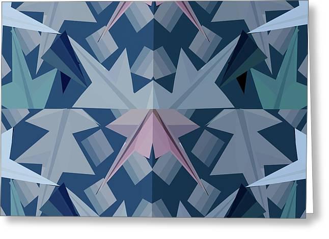 Geometrical Art Greeting Cards - Windows of the mind b Greeting Card by Thecla Correya