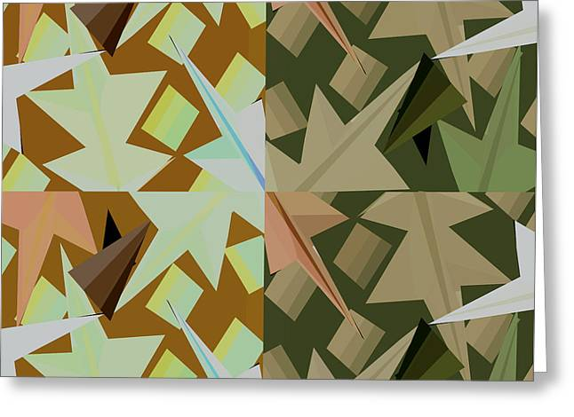 Geometrical Art Greeting Cards - Windows of the mind Greeting Card by Thecla Correya