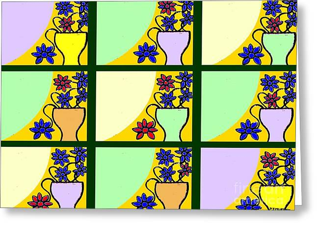Belfast Mixed Media Greeting Cards - Windows Greeting Card by Patrick J Murphy