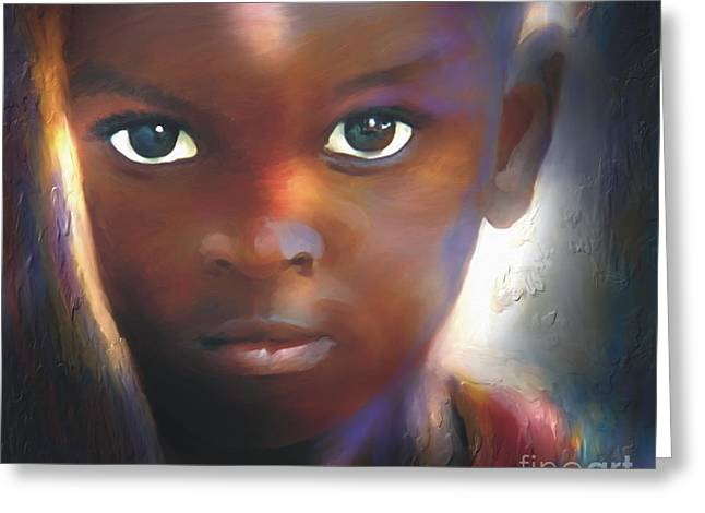 Haitian Greeting Cards - Windows To The Soul Greeting Card by Bob Salo
