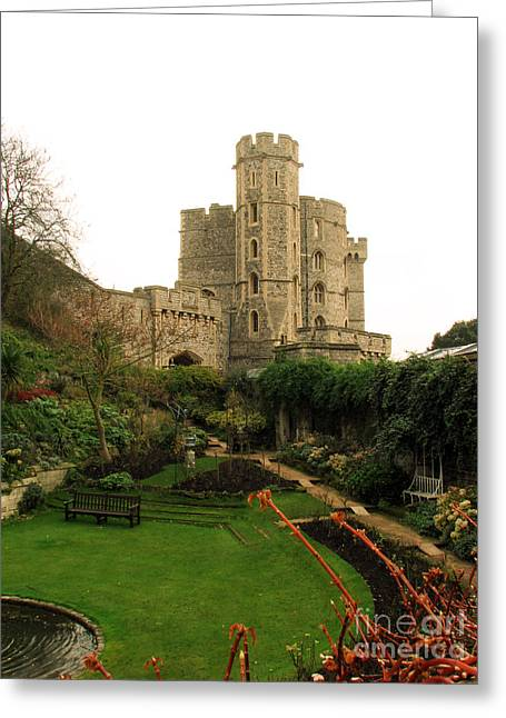 Fantasy Greeting Cards - Windsor Castle in Winter Greeting Card by Amanda Barcon