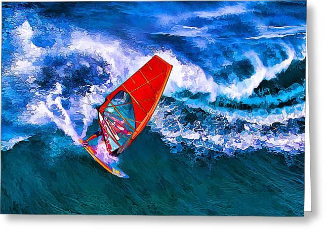 Windsurfer 1 Greeting Card by Bill Caldwell -        ABeautifulSky Photography