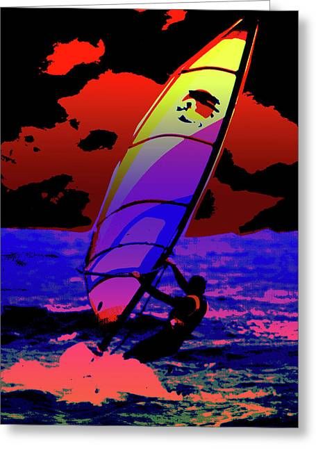 Windsurfer Greeting Cards - Windsurfer Greeting Card by Brian Roscorla