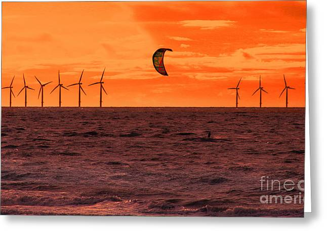 Chris Evans Greeting Cards - Windsurfer  Greeting Card by Chris Evans